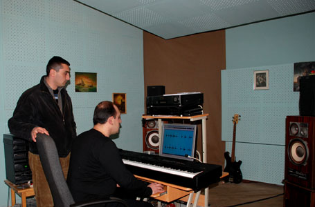 In musical studio